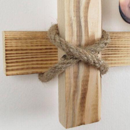 İpli Mandallı Eskitme Ahşap Çerçeve 45x60 cm