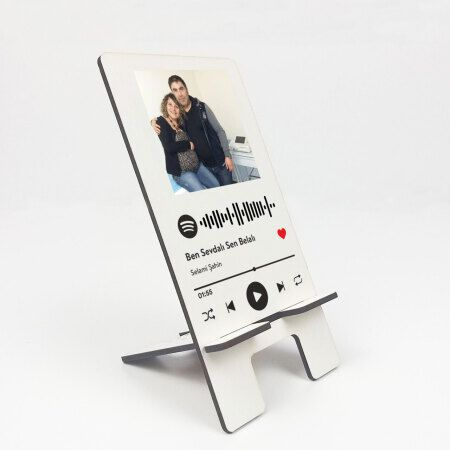 Kişiye Özel Spotify Kodlu Telefon Tutucu Stand