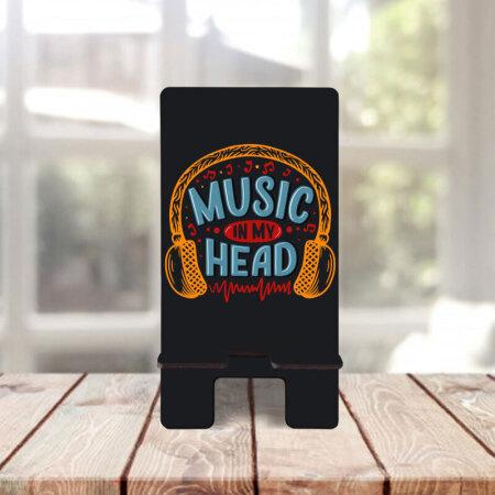 Music in my head yazılı telefon aksesuarı