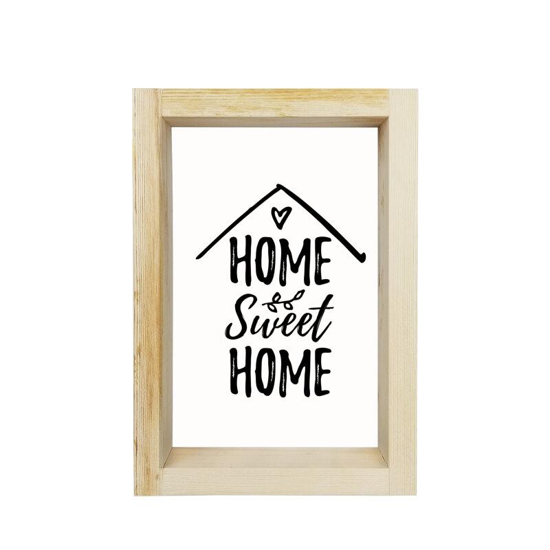 Motto Çerçeve Home Sweet Home