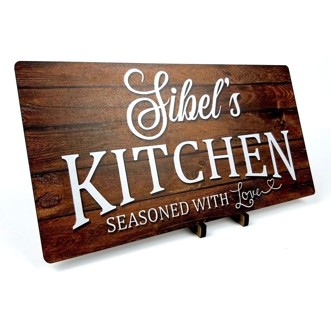 Mutfak Panosu Kişiye Özel İsimli